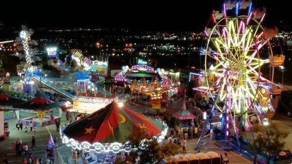 Carnival arrives at Rodeo Infield